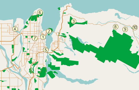 Карта спортивных объектов Ванкувера
